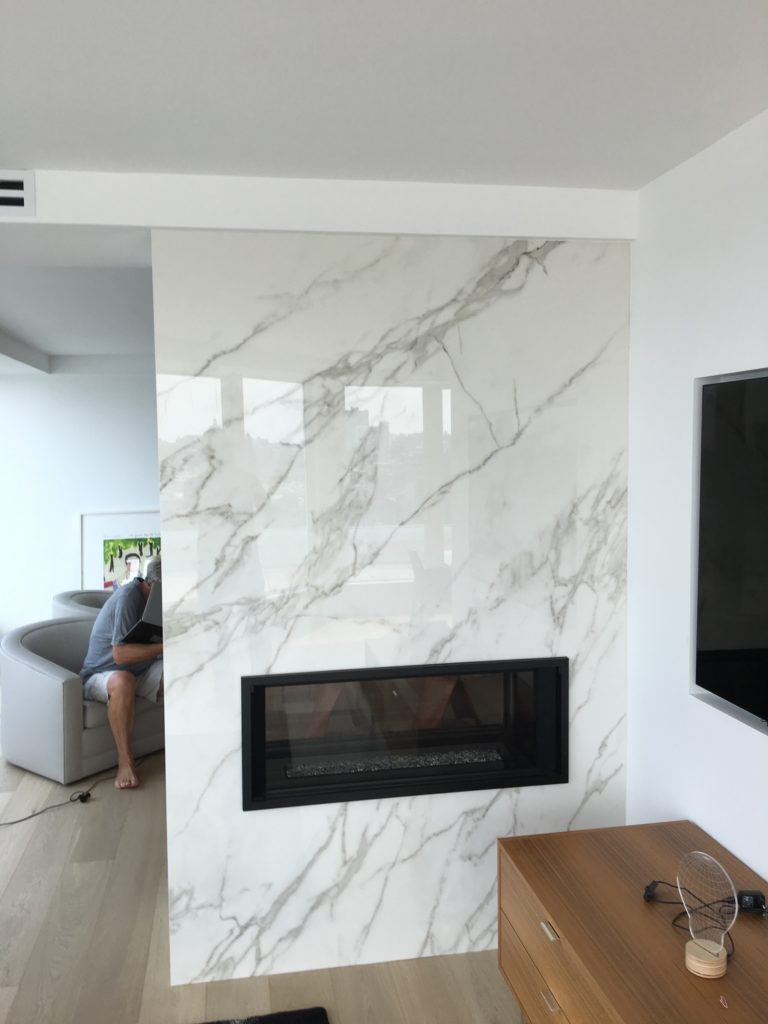 fireplace by Stone Age Marble and Granite