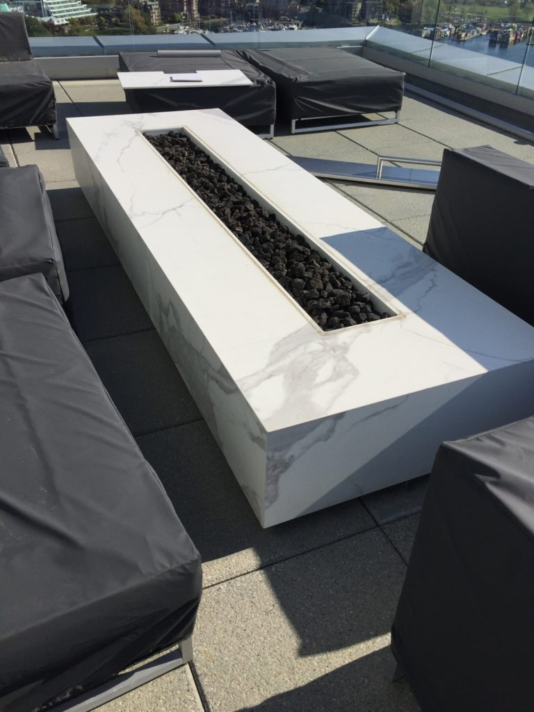 fire pit by Stone Age Marble and Granite