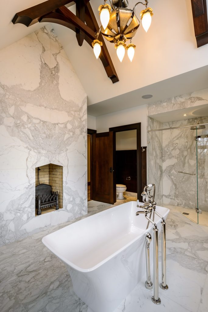 marble bathroom by Stone Age Marble and Granite