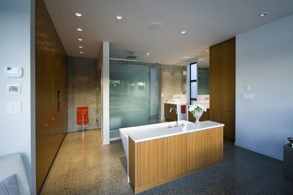 bathroom counter by Stone Age Marble and Granite