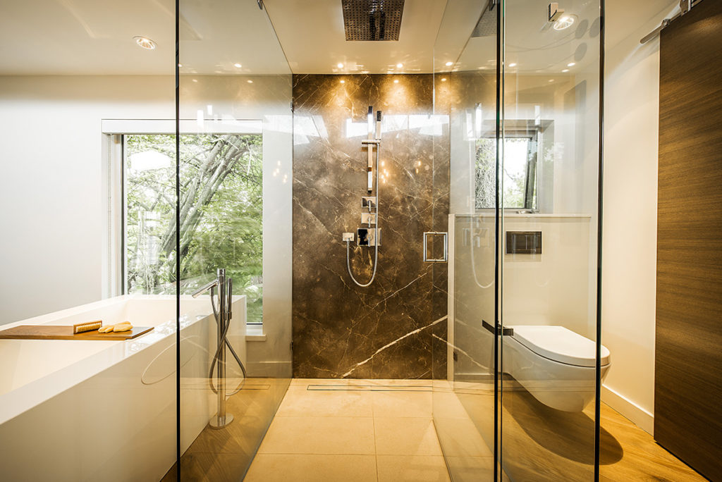 bathroom shower by Stone Age Marble and Granite